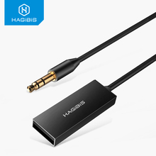 цена на Hagibis Bluetooth Receiver AUX Audio 3.5mm Stereo Music Wireless Receivers For Car Speaker Headphone Bluetooth Adapter HandsFree