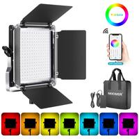 Neewer 530 RGB Led Light with APP Control  528 SMD LEDs CRI95/3200K-5600K/Brightness 0-100%/0-360 Adjustable Colors/9 Applicable
