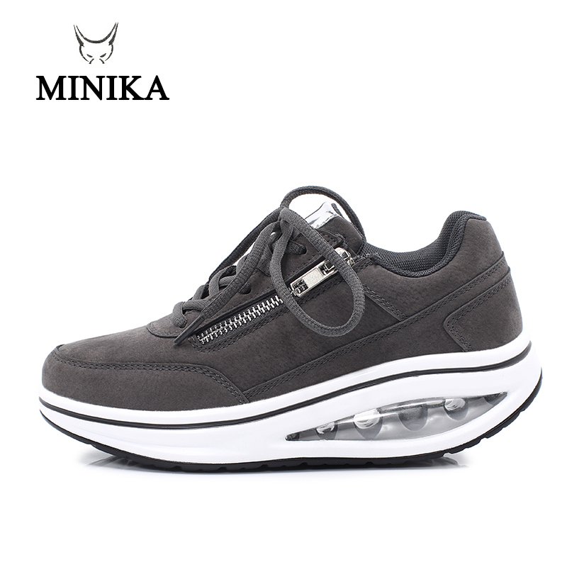 New Winter Women Outdoor Fitness Shoes Lace Up Wedge Sneakers Body Shaping Sport Slimming Shoes Ladies Toning Shoes Walking