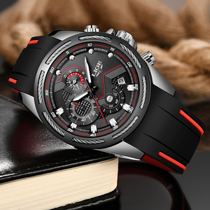 Image 2 - Relogio masculino 2019 lige novo relógio do esporte dos homens relógio de quartzo marca original dos relógios de aço inoxidável dial relógio à prova dwaterproof água
