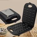 Mini Moer Wafel Elektrische Walnoot Cake Maker Automatische Broodbakmachine Bakvormen Sandwich Ijzer Broodrooster Ontbijt Pan Oven