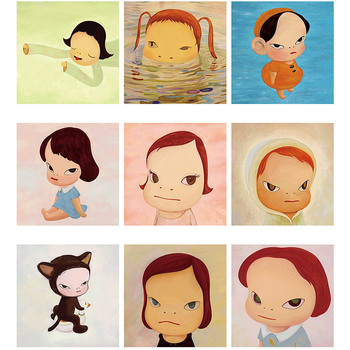 Abstract cartoon figure painting sleepwalking Doll children's bedroomposters canvas modern Printing posters aesthetic Home deco image