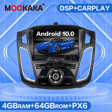 SIM 4G LTE Android 10.0 64GB Mobil DVD Player Radio untuk Ford Fokus 2015 Multimedia Player Auto Stereo navigasi GPS Head Unit DSP(China)
