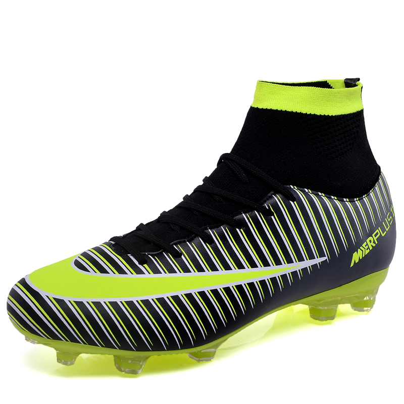 Sneakers Men Cleats Soccer-Shoes Football-Boots Chuteira Training Outdoor Futebol Long-Spikes