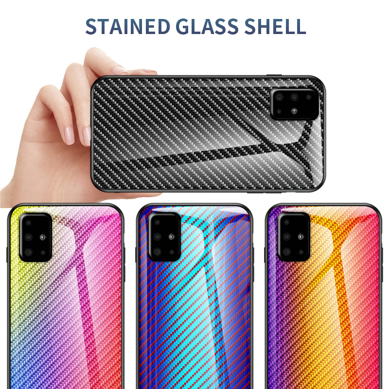 Case for Samsung Galaxy A51 A50S A50 Cover Shockproof Marble Tempered Glass Hard Cover For Samsung Galaxy A50S A51 Case image