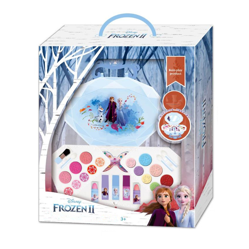 FROZEN II Make-up Pretend Play Beauty Makeup Portable Shell Bag Makeup Toy For Children Disney
