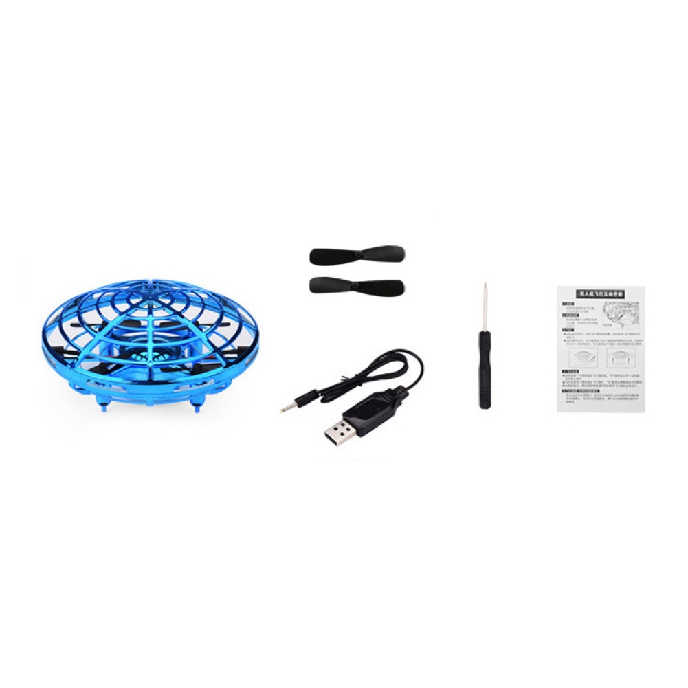 Mini Kind 4 Achse UFO 360 grad rotation fliegende LED Induktion Hand Fliegen Flugzeug Spielzeug Induktion