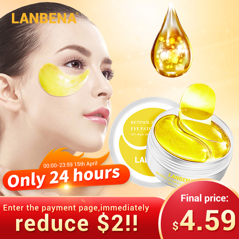 €6.09 45% OFF|LANBENA Eye Mask Collagen Eye Patch Skin Care Hyaluronic Acid Gel Moisturizing Retinol Anti Aging Remove Dark Circles Eye Bag|Creams| |  - AliExpress