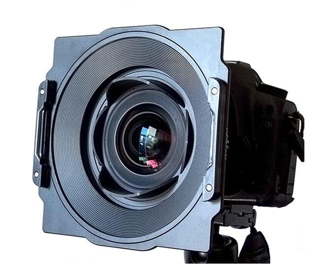 Alüminyum 150mm kare filtre tutucu braketi destek Samyang 14mm 2.8 Lens uyumlu Lee Hitech Haida 150 serisi filtre