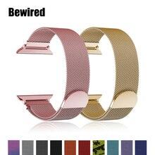 Milanese Schleife band für Apple Uhr band strap 38mm 40mm für iwatch 5/4/3/2/1 42mm 44mm Edelstahl stahl Armband handgelenk armband