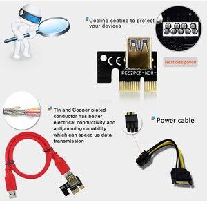Image 5 - TISHRIC 009S PCI E Riser Card Extender USB 3.0 Adapter Cable PCI 1X 4X 8X 16X Extender riser for video card For GPU Miner Mining