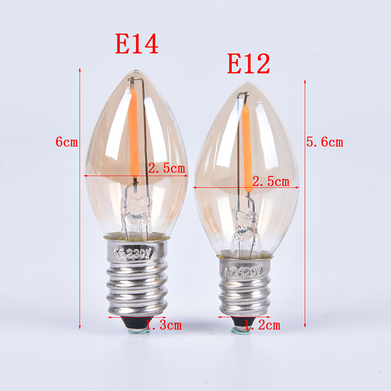 E14/E12 C7 Led Bulb 0.5W LED Lamp LED Filament Light Chandelier LED Edison Bulbs