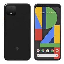 Абсолютно мобильный телефон google pixel 4, 5,7 дюймов, 6 ГБ ОЗУ, 64B ПЗУ, Восьмиядерный процессор Snapdragon 855, Android 10, двойная задняя камера, телефон для распознавания лица