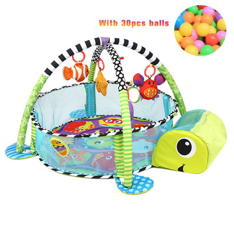 Hb0666447c0d9460ebeb0bd1a314f9db2W 3 In 1 Baby Play Mat Round Lion Turtle Crawling Blanket Infant Game Pad Play Rug Kids Activity Mat Gym Folding Tapete Infantil
