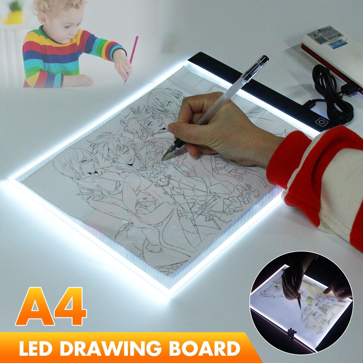 Hot A4 USB LED Artist Tattoo Stencil Board Light Box Tracing Drawing Pad Table