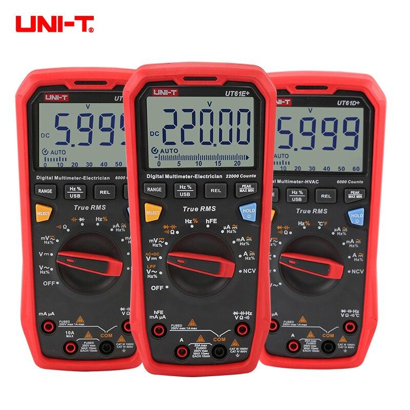Tools : UNI-T Multimeter digital UT61E Plus 22000 Counts USB data transmission Auto range professional tester Voltage Current Multimetro