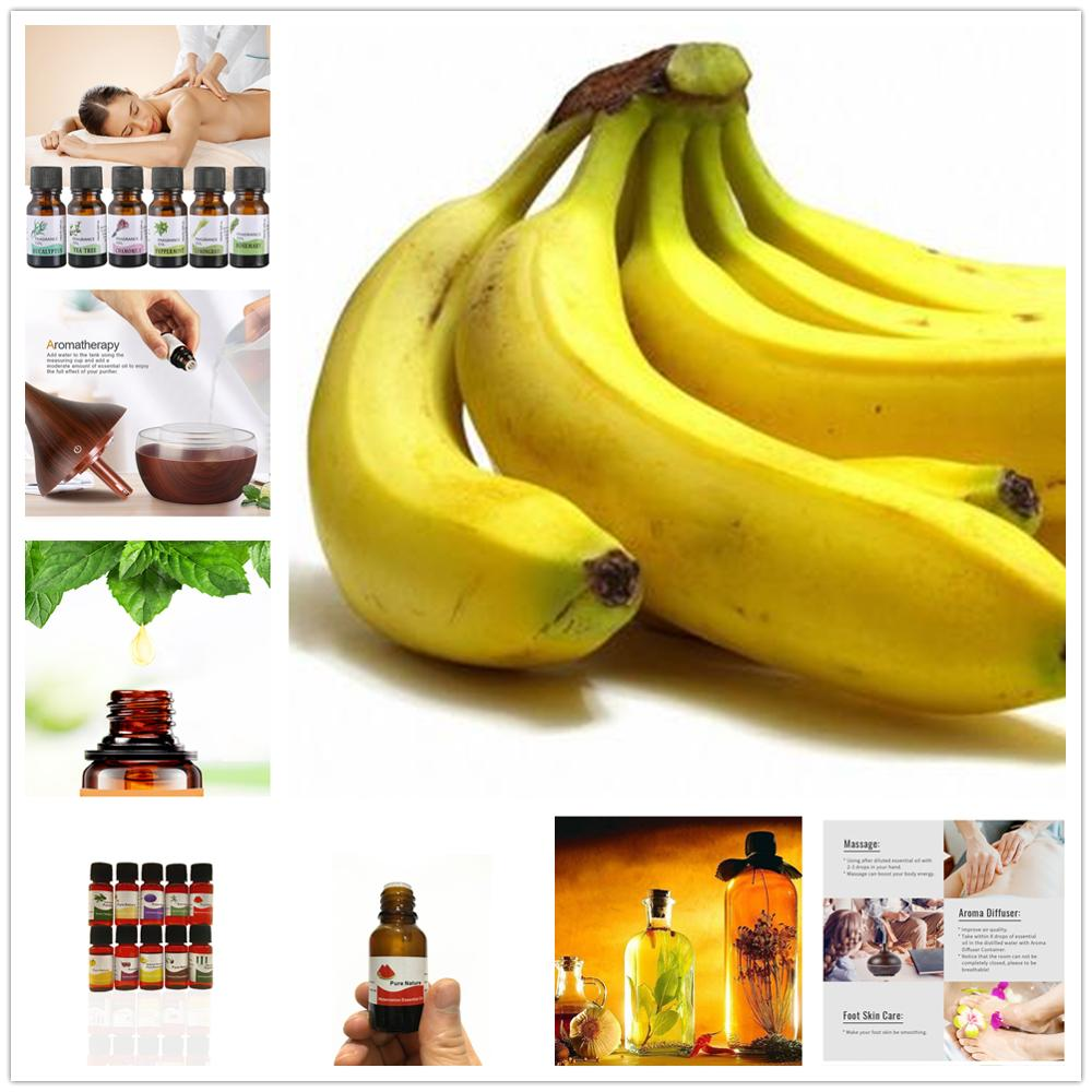 Promotion!! 10ml Pure Essential Oils For Aromatherapy Diffuser Air Fresh Banana Frankincense Peppermint Oil Improve Mood Sleep