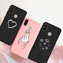 Silicone Case Cover For Xiaomi Redmi note 7 5 8 note 6 Pro 8A 7A 6A 5A 4A S2 K20 Cute Case for Xiaomi Mi 9 8 lite A3 A2 A1 5X 6X(China)