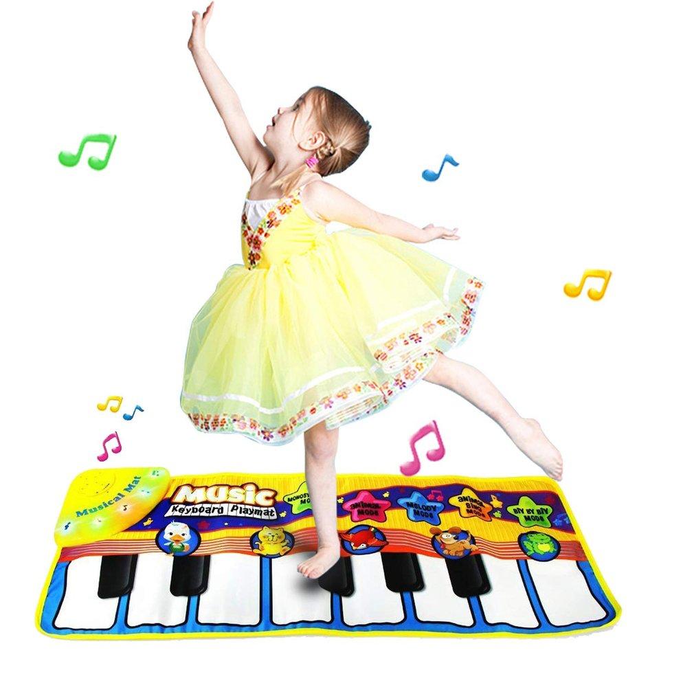 Baby Boy Girls Kids Musical Piano Play Mat Development Educational Soft Toys