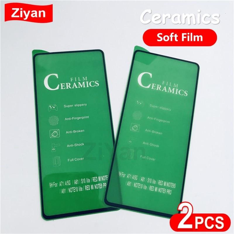 2 Pièces En Céramique Film Pour Samsung S20FE A10 A20 A30 40 50 A60 A70 90 3D Pleine Couverture Souple Protecteur Décran Pour Note20 A31 A51 A71 A91