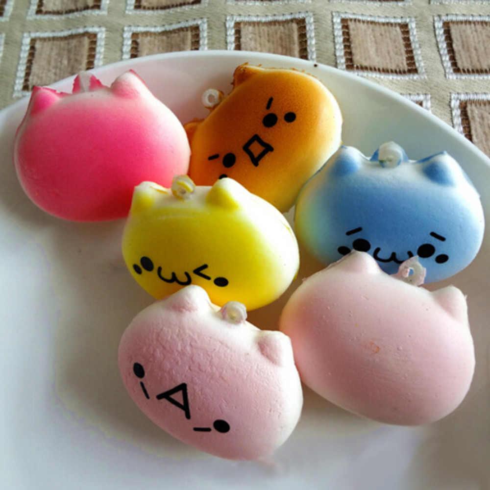 Schöne design 1PC Kawaii Squishy Brot Japanischen Kaomoji Ausdruck Totoro Telefon Straps Kinder Geschenk Spielzeug