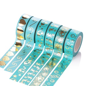G Simple Decorative Washi Masking Tape for DIY Crafts and Gift Wrapping Gold Shinning Office Glue
