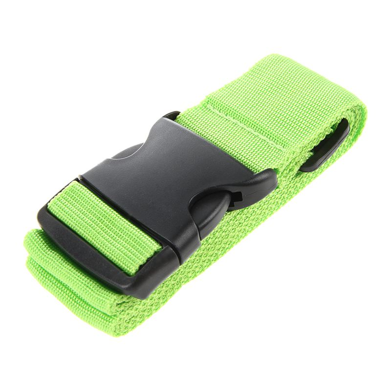 New 1X Adjustable Suitcase Luggage Straps Travel Baggage Belt Buckle Tie Down Lock Green
