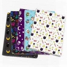 Tecido de algodão do poliéster do retalhos do gato da morango para o tecido que costura o pano estofando das telas, 1yc14202