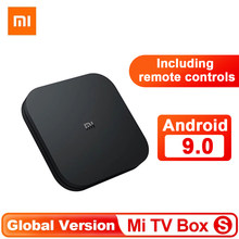 Versão global xiaomi mi caixa de tv s 4k android 9.0 ultra hd streaming media player google Cortex-A53 quad core 2gb + 8gb caixa de tv superior