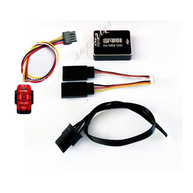 AN MINI OSD โมดูล DJI A2 NAZA V2 & Phantom สามารถพอร์ต 1 ถึง 3 HUB เปลี่ยน IOSD
