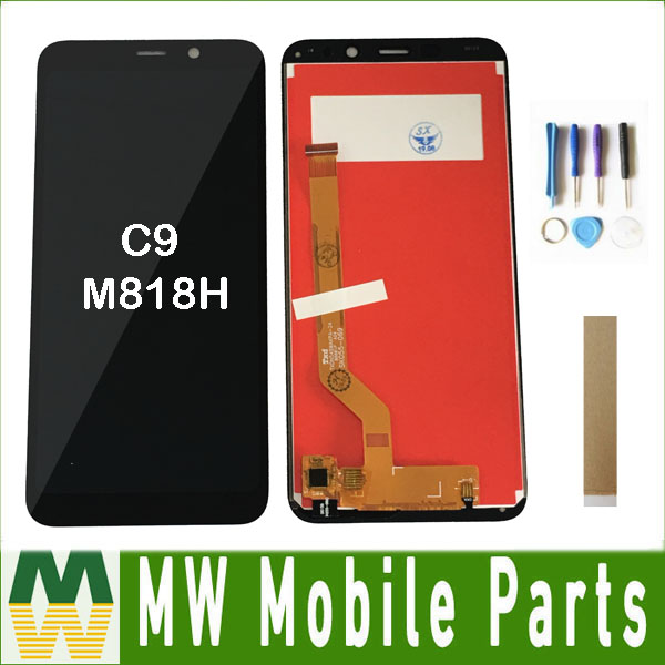 For Meizu C9 M818H LCD Display+Touch Screen Digitizer Assembly Black Color With Tools Tape