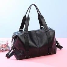 Модная мужская дорожная сумка чемодан большой вместимости кожаная