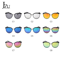 JZU Black Sunglasses Women Men 2019 Fashion Brand Designer Oversized Round Vinta