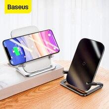 Supporto per caricabatterie Wireless Baseus 15W Qi per iPhone 12 11 Pro supporto per telefono con Pad per stazione di ricarica Wireless veloce Max per Xiaomi