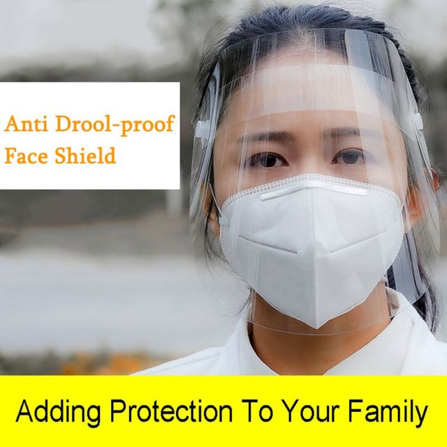 2020 Spring  Transparent Mask Protective Face Shield Transparent PVC Anti-fog Saliva And Anti-BACTERIA Protection 4