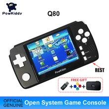 "Powkiddy Q80เกมคอนโซลวิดีโอย้อนยุคโทรศัพท์มือถือ3.5 ""IPSหน้าจอBuilt In 4000เกมเปิดระบบPS1จำลอง48Gเกมใหม่"