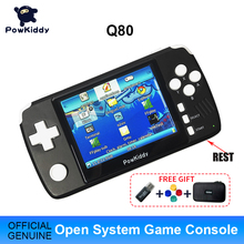 """Powkiddy q80 Retro Video Game Console Handset 3.5 """"IPS Screen Built in 4000 Games Open System PS1 Simulator 48G Memory NEW Games"""