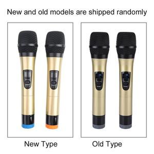 Image 5 - 1 to 2 Universal VHF Wireless Microphone Handheld 2 Channel microfone sem fio with Receiver for Karaoke/Business Meeting microfo
