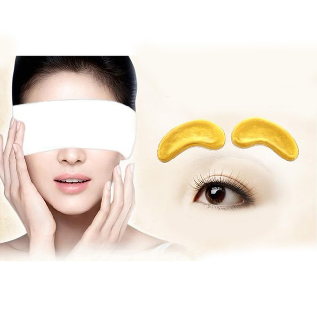 10Pcs=5Pairs Gold Crystal Collagen Eye Mask Patches For Eye Anti-Aging Acne Korean Cosmetics Skin Care 2
