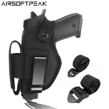 Concealed Carry Pistol Holster IWB OWB Car Gun Holster with 2 Strap Mounts Right Left Hand Draw Holster for Gun Glock Ruger LCP