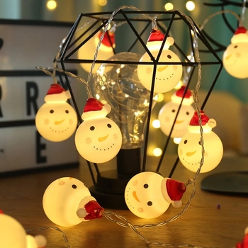 Christmas Tree Decorations Christmas Ornaments Christmas Decorations for Home New Year 2020 Snowman Lamp Christmas Decor Navidad image