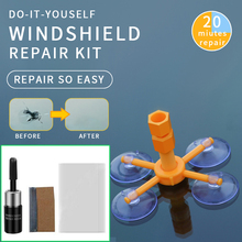 Car Windshield Windscreen Glass Repair Resin Kit Auto Vehicle Broken Window Fix Tool Cure Accessories