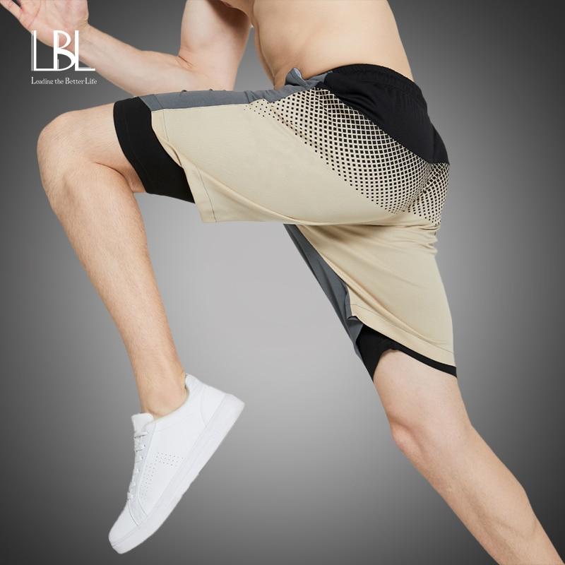 Gym Shorts Men 2020 Summer Running Double-Deck Sports Shorts Fashion 2 In 1 Quick Drying Sports Men Shorts Jogging Shorts Men
