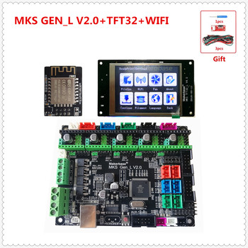 MKS GEN L V2.0 + MKS TFT32 LCD touching display + MKS WIFI module cheap 3D electronic unit openbuilds for 3d printer starter фото