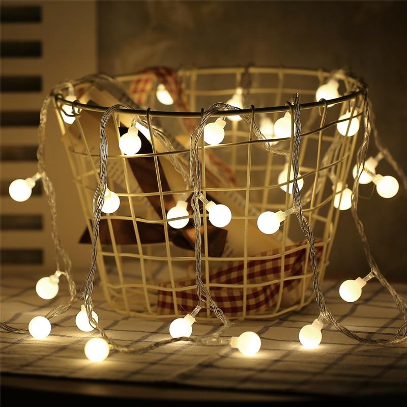 1.5M 3M 6M  Fairy Lights LED Garland LED Ball String Lights Led Lights Decoration Christmas Lights Outdoor New Year's Decor .
