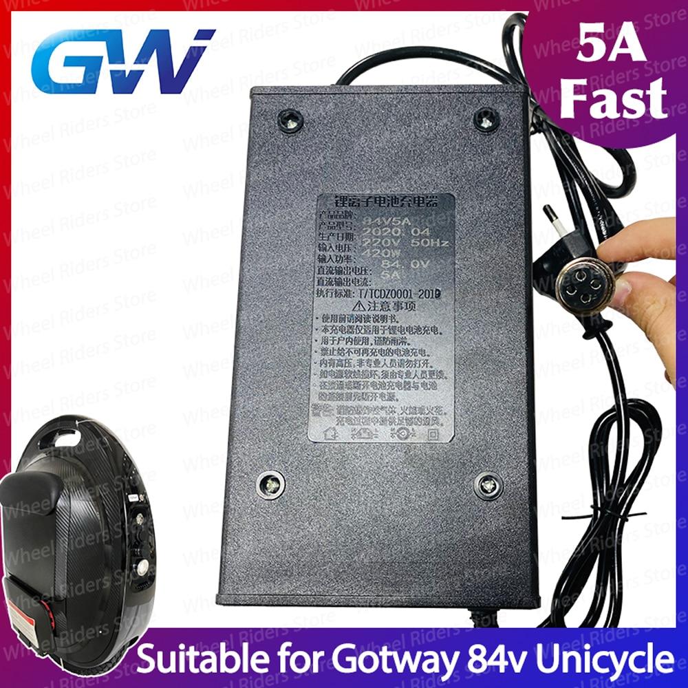 Gotway 84v 5a carregador rápido unicycle uma roda