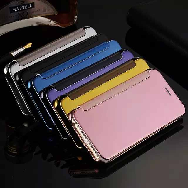 Cassa Del Telefono di Apple IPhone7 Elettrolitico Specchio Iphone6 più il Caso di Cuoio Dello Specchio di Caso di Vibrazione Custodia protettiva