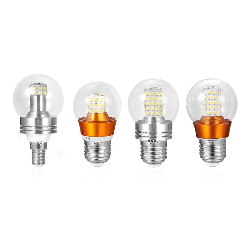 E27 E14 Dimmable LED Bulb Lamps 5W 7W 9W 12W Lampada Gold / Silver LED Light Bulb AC 220V 230V 240V Bombilla Spotlight