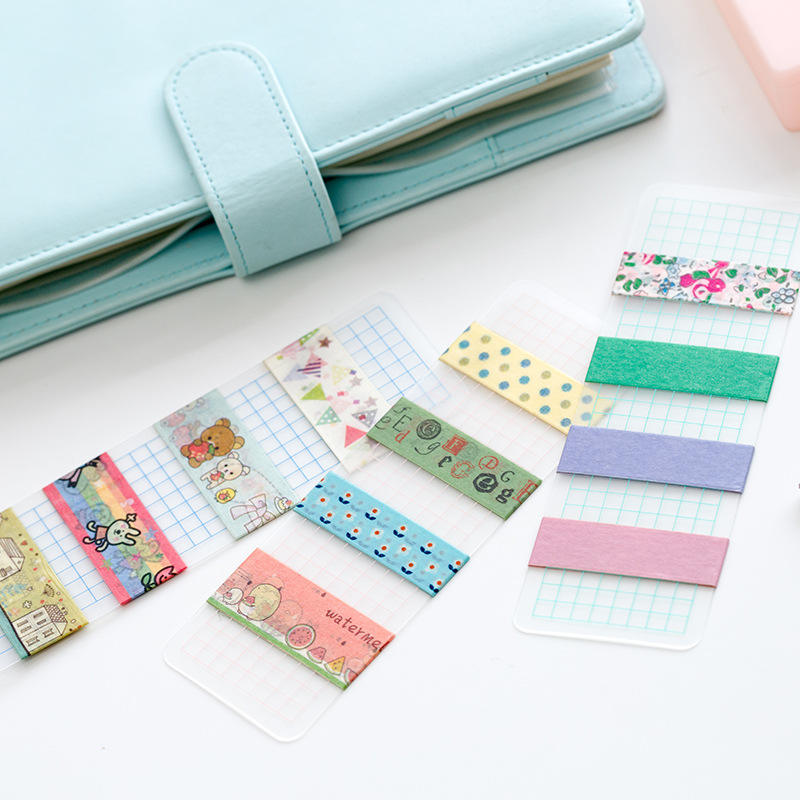 1Pcs Washi Paper Tape Sub-package Board Frosted Surface PVC Card 5x15cm