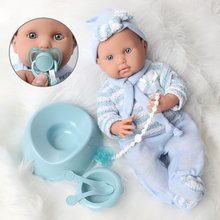 16 inch Realistic reborn doll 40CM silicone bebe body Sweater waterproof simulation newborn Pacifier chain set for toys children(China)